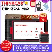 Thinkcar Thinkscan Max Auto OBD2 narzędzia diagnostyczne pełny układ kodowanie ECU sterowanie dwukierunkowe 28 resetuj uruchomienie skanery X431
