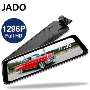JADO G830 Car Dash Camera Double Recording HD Night Vision Video Recorder Car Camera 10 Inch Car Dvrs 1296P IPS Screen Recorder