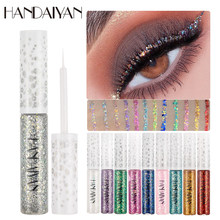 Handaiyan Kleurenspel Glitter Eyeliner Vloeistof Ogen Make-Up Shine Kleurrijke Eye Liner Gel Sneldrogende Ooglid Liners Make Up Cosmetica(China)