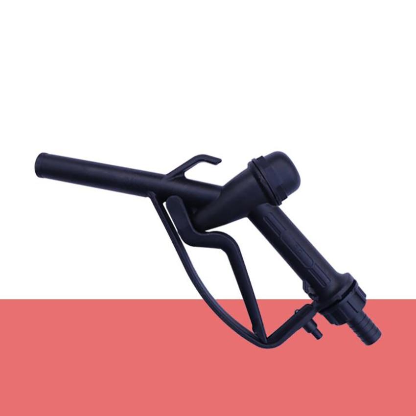 Plastic Manual Heavy Duty Fuel Nozzle Gun With Hook 25mm / 20mm Straight Spout Diesel & Gasoline Nozzle, Max Flow 45L/min