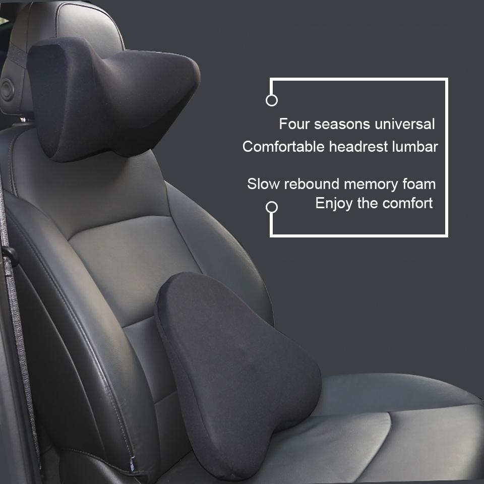 Memory Foam Car Neck Pillow Headrest Cervical Neck Support Cushion Auto Accessories For Universal Cars Audi Quattro Renault Golf