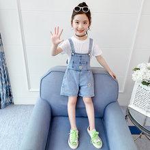 Одежда для маленьких девочек из джинсовой ткани; Комбинезон