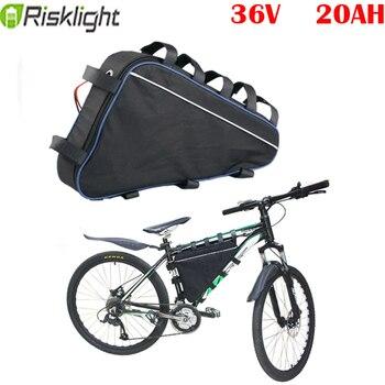 E-bike batería triangular 36v 20ah Paquete de batería para 36v 1000w 500w 8fun bafang moto kit de fahrrad 36v akku batería scooter Eléctrico