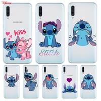 Funda de silicona de dibujos animados Lilo Stitch Disney para Samsung Galaxy A90 A80 A70 A70S A60 A50 A40 A30S A20S A20E A10 A10E teléfono caso