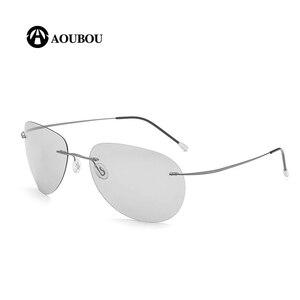 Image 4 - Photochromic night vision goggles oculos de grau masculino Frameless gafas hombre kingseven gunes gozlugu lentes de sol hombre8G