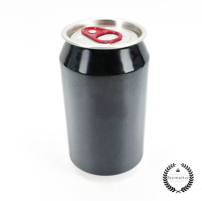 FULL APERTURE ALUMINIUM DISPOSABLE BEVERAGE/BEER CANS BLACK SKIN WITH LIDS(300 UNITS X 330ML)