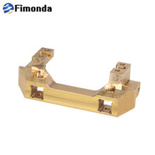 Brass Front Bumper Mount Servo Mount for 1/10 RC Crawler Traxxas TRX4 Metal Counterweight Upgrade Parts