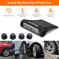 Vehemo Wireless Real Time Display Car TPMS with Sensors Universal Tire Pressure Monitoring System Alarm Monitor
