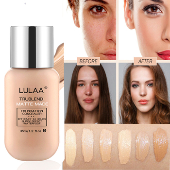 Liquid Foundation Nude Makeup Matte Concealer Lasting Skin Care Oil