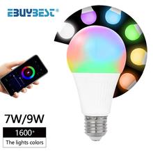 Smart Bulbs Wifi Alexa 7W 9W AC 85-265V E27 Led Lamp Dimmable RGB Light Bulb Smart Light Wifi Control Magic Bulbs Home Decor cheap ebuybest CN(Origin) ROHS LED Bulbs 270° Epistar 8-10㎡ AC85-265V 2700K~6500K 50000 3years E1LBSM-WF Globe Bubble Ball Bulb