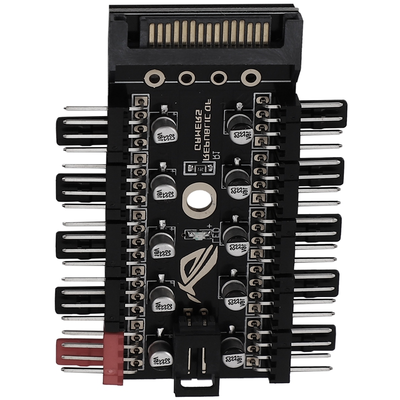 Motherboard 4-Pin PWM Hub FAN HUB Computer Temperature Control Speed Control Panel Chassis 4Pin Fan Extension Cable