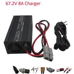 600W 110V / 220V Output 67.2V 8A Charger 60V Li-ion Electric Bicycle Forklift charge for 16S 60 V lithium battery