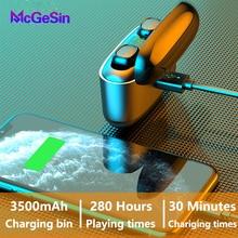 G5s fone de ouvido bluetooth sem fio música fone para xiaomi controle toque earbud 3500mah display led energia esporte fones com microfone