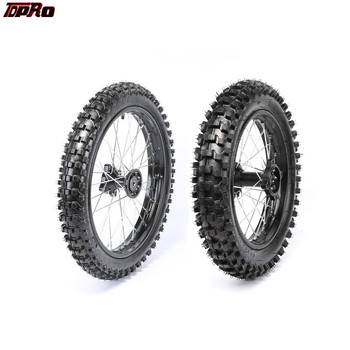 TDPRO 15mm eje delantero 70x100-17 + trasero 90x100-14 llanta neumático para Dirt Pit bicicleta 160cc CRF70 110 TTR100 Gokart ruedas
