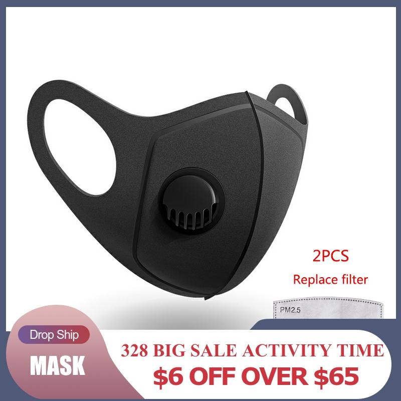 Anti-Dust Mouth Mask Dustproof Anti-fog PM 2.5 Activated Carbon Reusable Face Mouth Mask Cover Respirator For Men Women Unisex
