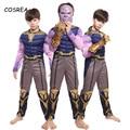 Костюм Таноса для косплея, Детский костюм супергероя, костюм Таноса на Хэллоуин, карнавальный костюм зентай