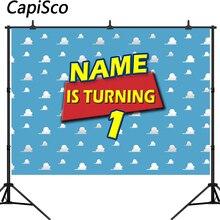 Capisco fotoğraf arka plan özel oyuncak temalı davetiye parti bulut çocuk doğum günü afiş özel fotoğraf stüdyosu Backdrop
