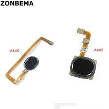10 pçs original para samsung a10s a20s a107 a207 sensor de impressão digital scanner toque id conectar placa mãe botão casa cabo flexível