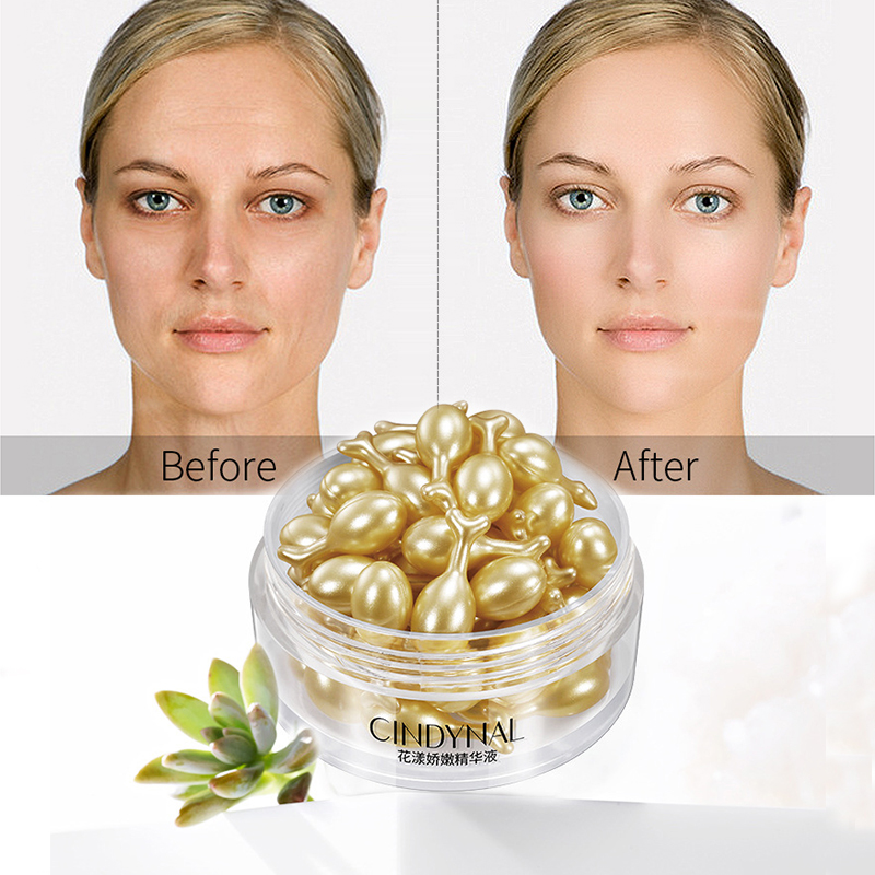 30pcs Hyaluronic Acid Capsules Serum Spot Acne Remover Whitening Cream Anti-wrinkle Ageless Cream Face Essence Skin Care Tslm1