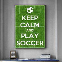 Inspiring Soccer Life Quotes Keep Calm Slogan Poster And Prints Wall Picture On Wall Art Canvas Painting For Living Room Decor michael jordan dunk pose poster and prints basketball superstar wall picture on canvas wall art painting for living room decor