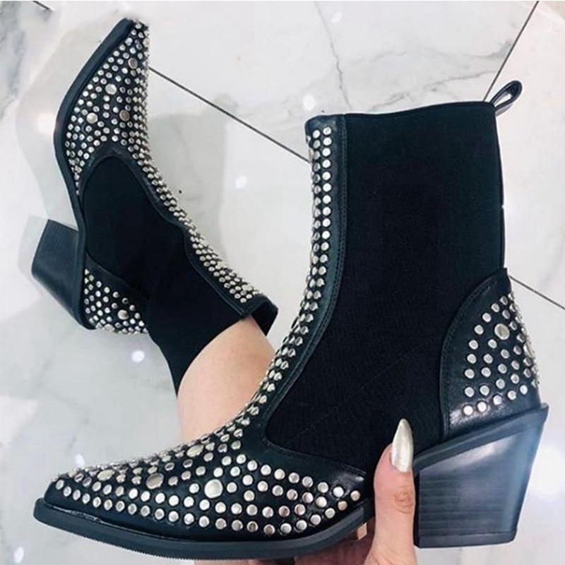 Woman 2020 Women Ankle Boots Platform Chelsea Women