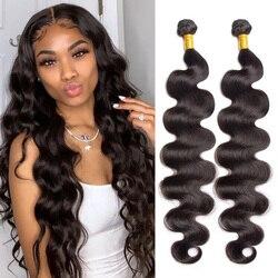 10A Brazilian Hair Body Wave Weave Bundles Long 28 30 32 34 36 38 40 inch Remy Human Hair Weave Brazilian Hair 1/3/4 Pc Deal