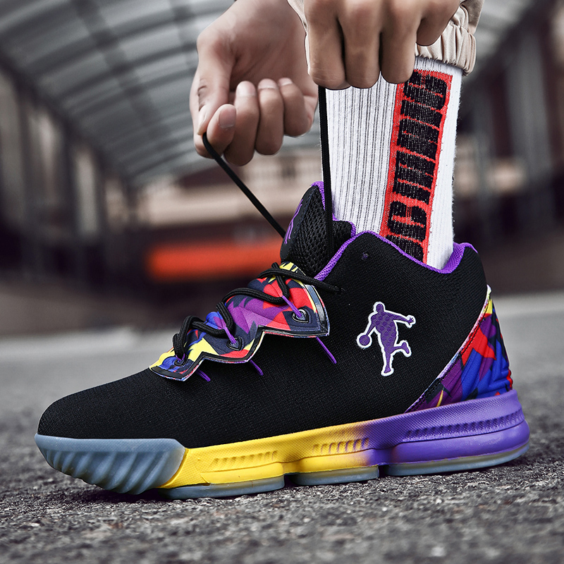 Image 3 - Men Jordan Basketball Shoes Air Cushioning Men's James Basketball Sneakers Lebron Basketball Shoes Combat Boots Outdoor Male New-in Basketball Shoes from Sports & Entertainment