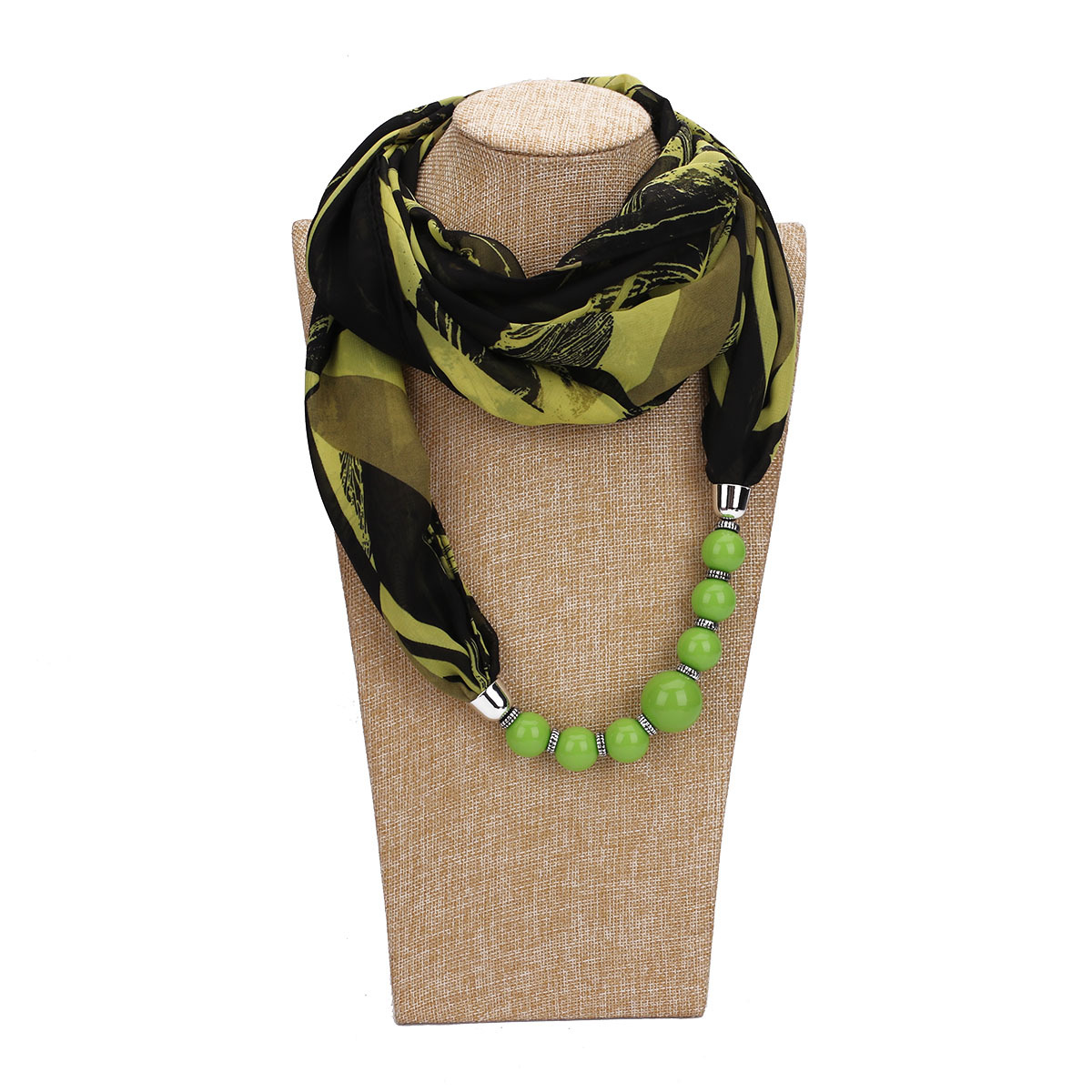 Gradient Color Neck Silk Scarf Long Slim Soft Wrap Neckwear Chiffon Shawl Women