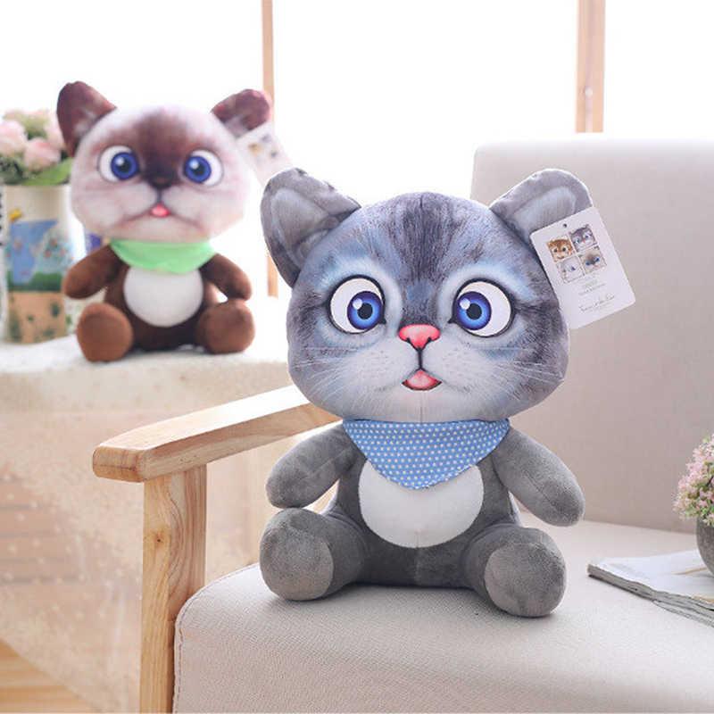 1pc 20cm Mini Cute Plush Cat Toys Stuffed Plush Animals Cartoon Cat Doll 3D Printed Simulation Animal Dolls Kids Toys Girls Gift