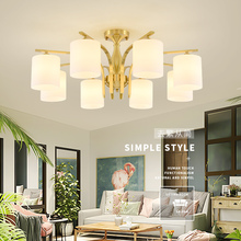 full copper Simple glass pendant light indoor LED lamp The restaurant dining room bar cafe shop lighting Fixture AC110-265 стоимость