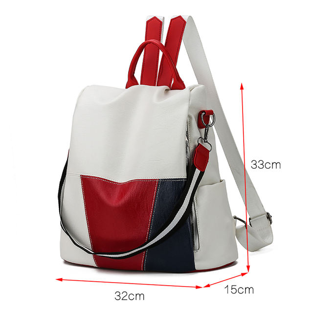 New High Quality Leather Backpack for Women