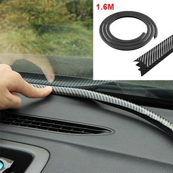 1.6M Carbon Fiber Sealing Strip Car Dashboard Gap Filling Noise Insulation Windshield Gap Soundproof Car Dashboard Sealing Strip футболка gap gap ga020emefzt4