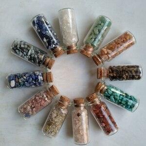 Natural Tumbled Stones Gravel Crystal Chips Tumblestone Bottles Healing Crystal Bulk Stones Assorted Mix Reiki Chakra Fengshui