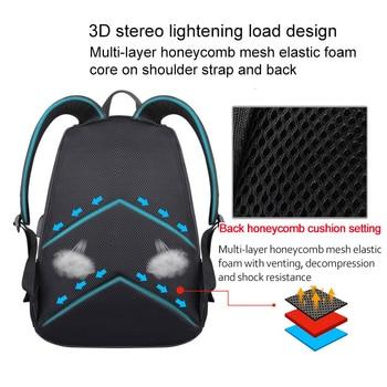 Backpack Student College Water Repellent Nylon Backpacks Men Material Escolar Backpack Boy Girl Bag With Charging Line Port