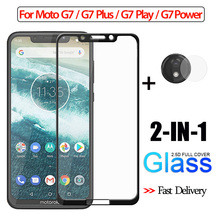 2-in-1 Camera Glass For Motorola Moto G7 Plus G7Power 3D for moto g7 play Screen Protector Tempered plus