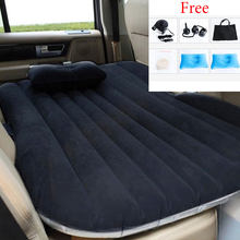 GZHJ Car Air Inflatable Travel Mattress Bed Universal for Back Seat Multi functional Sofa Pillow Outdoor Camping Mat Cushion(China)