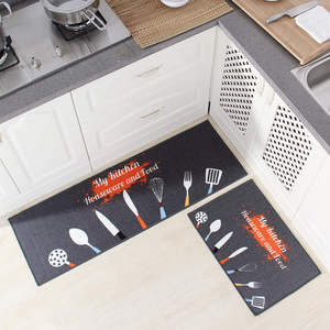 Image 1 - Long Kitchen Mat Bath Carpet Floor Mat Home Entrance Doormat Tapete Absorbent Bedroom Living Room Floor Mats Modern Kitchen Rug