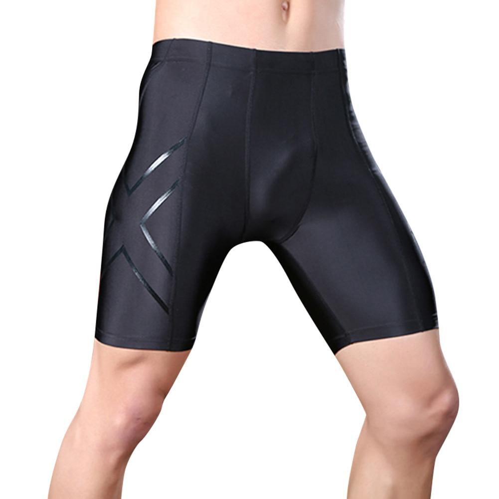 Men Compression Shorts Tight Running Cycling Sweat Pants Short Fitness Pants  EDF88
