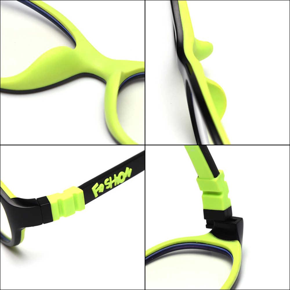 Peekaboo ultraléger garçons lunettes pour enfants anti lumière bleue silicone lunettes optiques lunettes pour enfants étudiant vert noir