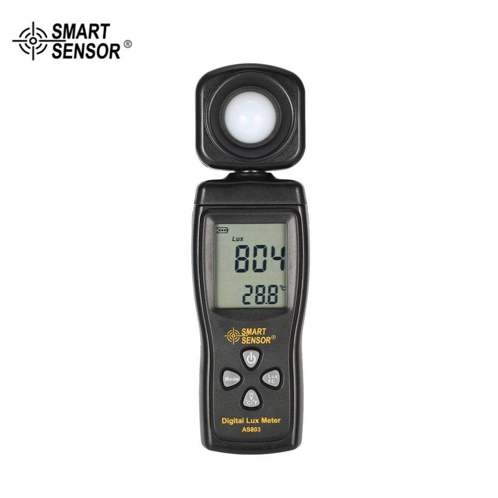 Умный датчик AS803 цифровой Люкс метр люминесцентная лампа тестера метр 1-200000 Люкс инструменты фотометр спектрометр актинометр