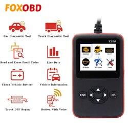 V500 dla samochodów ciężarowych OBDII OBD2 skaner diagnostyczny automotriz narzędzie CR-HD do pojazdów ciężarowych o dużej ładowności OBD EOBD HDOBD PK ELM 327 V1.5 NL102
