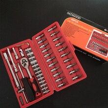 Auto Reparatie Tools Set Dopsleutel Gereedschap Handgereedschap Sleutel Ratchet Wrenchs Universele Dopsleutel Voor Fietsen Auto