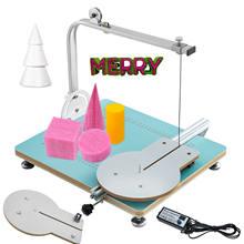 VEVOR – Machine à découper la mousse, fil à chaud, Table de découpe circulaire de mousse, température réglable, MDF + alliage pour modélisation de sculpture de mousse