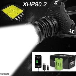 300000 лм xhp90.2 светодиодный налобный фонарь xhp90 высокой мощности Фонарь usb 18650 перезаряжаемый xhp70 налобный светильник xhp50.2 налобный светильник с...
