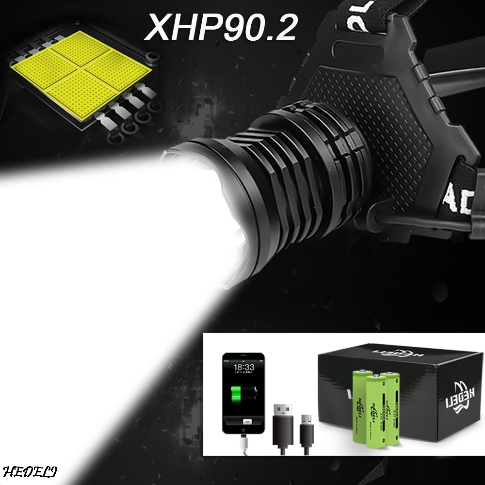 Xhp90 2 led headlight xhp90 high power headlamp usb 18650 rechargeable head flashlight xhp70 2 head light xhp50 2 zoom head lamp