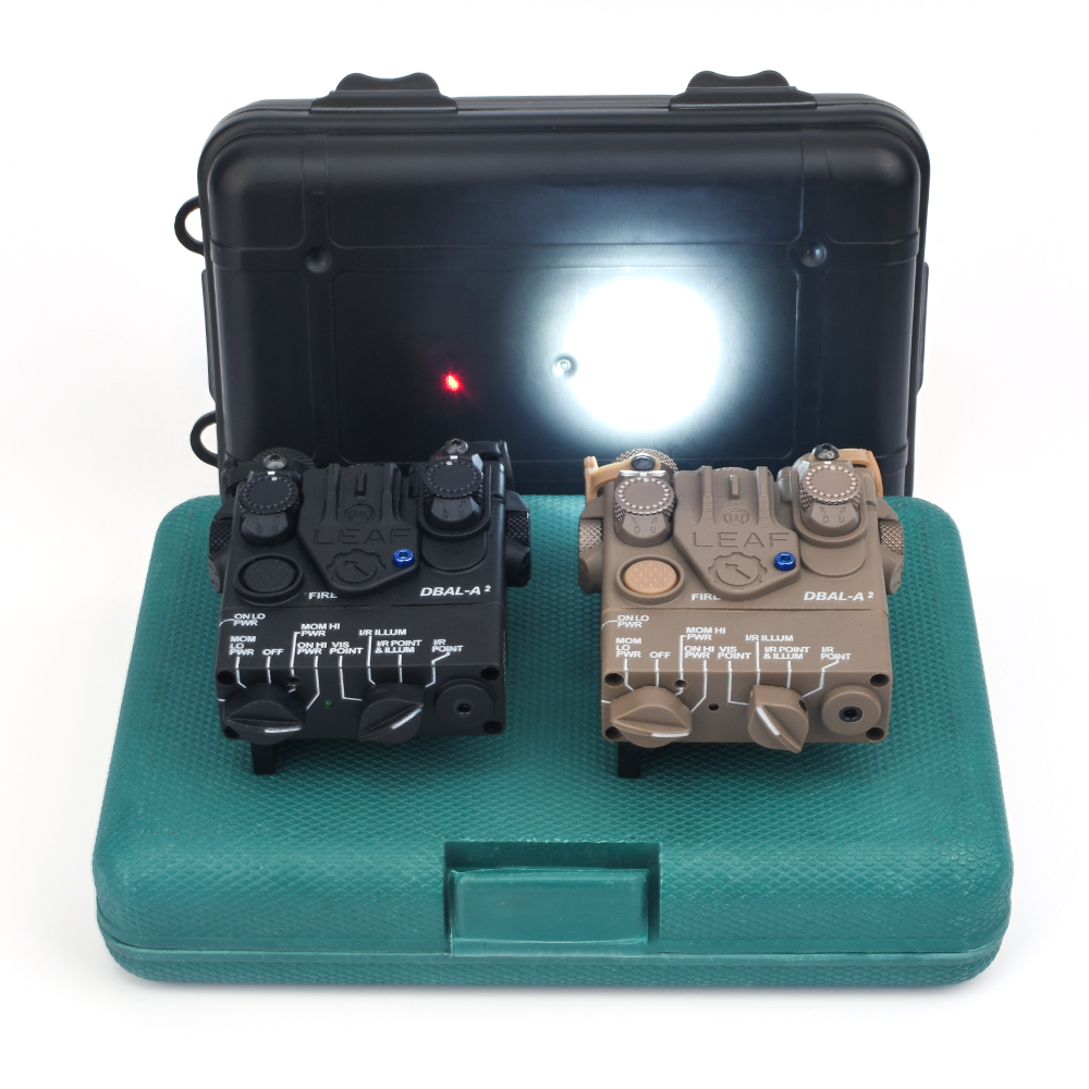 WADSN Airsoft PEQ Mini DBAL-A2 Red IR Aiming Laser With LED White Light Hunting Softair Tatical Strobe Peq Weapon Lights
