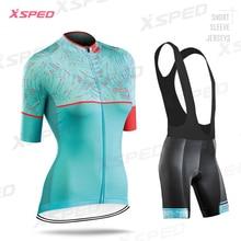 Moda señora ciclismo ropa verano Jersey de manga corta conjunto mujer MTB ciclismo Kit Vintage patrón transpirable bicicleta de carretera ropa