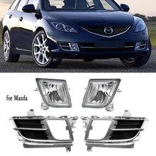 Fog Lights for Mazda 6 atenza 2008 2009 2010 2011 2012 Fog Light LED Headlight Halogen Foglight Fog Lamp Cover Grill Bezel Frame