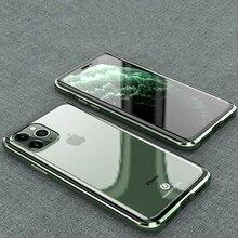 Apple iPhone 11 Pro 용 기존 BOBYT 금속 케이스 iPhone 11/ Pro/ Max 용 최대 투명 강화 유리 및 알루미늄 범퍼 케이스 커버