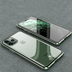 Image 1 - Original BOBYT Metall Fall Für Apple iPhone 11 Pro Max Klar Gehärtetem Glas & Aluminium Stoßstange Fall Abdeckung Für iPhone 11/ Pro/ Max